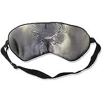 Eye Mask Eyeshade Smoke Deer Painting Sleeping Mask Blindfold Eyepatch Adjustable Head Strap preisvergleich bei billige-tabletten.eu
