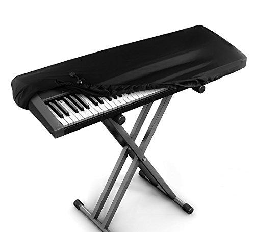 JamBer copertura pianoforte tastiera per tastiere a 88 tasti,Nero