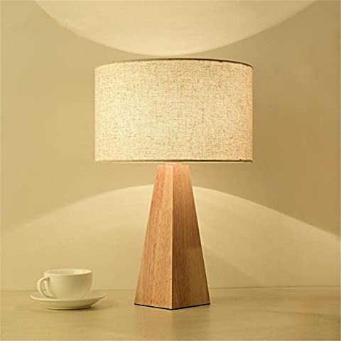 Schreibtischlampe Tischleuchte Nachttischlampe Moderne E27 Kreative Kegel Hölzerne Schreibtischlampen Für