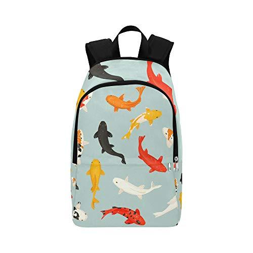 Buntfarbiger Goldfish-beiläufiger Daypack-Reisetasche College School-Rucksack für Männer und Frauen -
