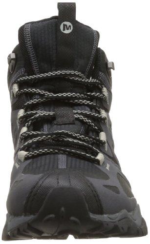 Mediados Zapatos Plata Altos Caminar Grassbow Los Negro Merrell Para Hombres 5Fw1x