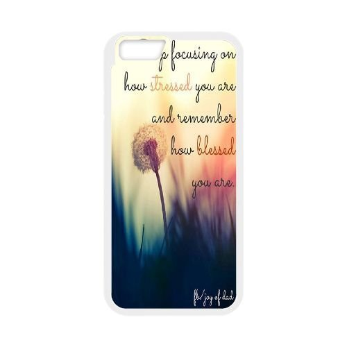 Custom Life Inspirational Quotes Iphone6 Phone Case, Life Inspirational Quotes DIY Cell Phone Case for iPhone 6 4.7
