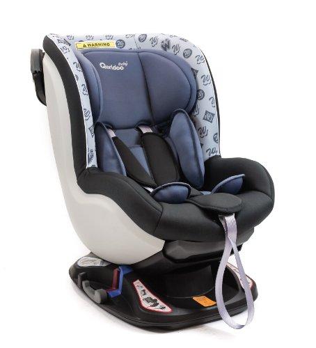 Preisvergleich Produktbild QERIDOO BS08-B-Grau Kinderautositz, Pseudo reboarder, Gruppe 0/1, 0-18 kg, grau
