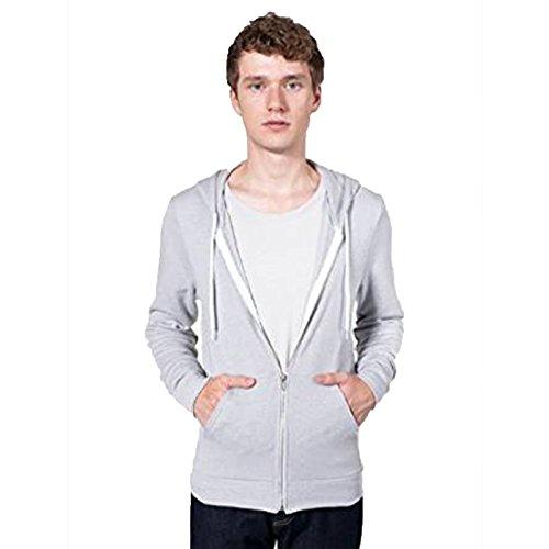 american-apparel-felpa-con-cappuccio-uomo-tri-silver-x-small