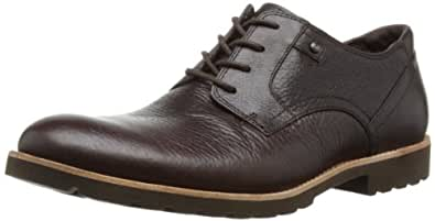 Rockport Men's Ledge Hill Plaintoe Derby, Dark Brown, 7 UK 2E