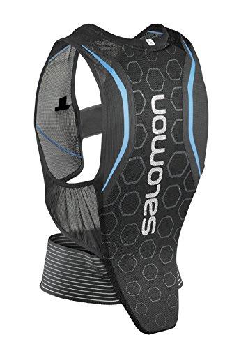 Salomon L39139100 Protezione per la schiena per Uomo da sci, Tecnologia MotionFit, Rete traspirante, FLEXCELL MEN, Nero/Blu, Taglia L