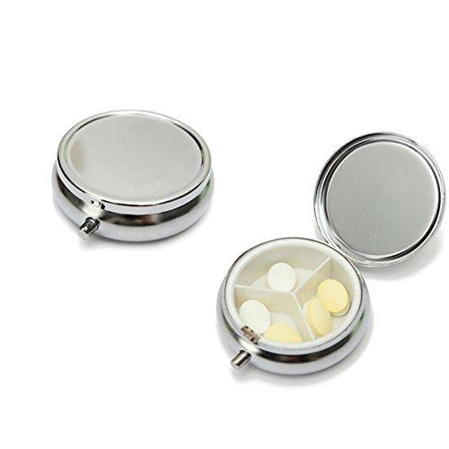 Reisen 2Pcs rund, Metall 3fach One Day Pille Aufbewahrungsbox Box Medizin Vitamine Holder Organizer Health Care Pocket Pille Spender Behälter -