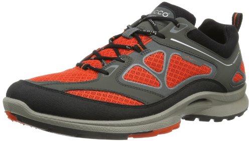 Ecco Biom Ultra Black/Fire/Fire Syn/Tex/Deco, Chaussures de Sport/d'extérieur à Lacets Homme Orange - Orange (BLACK/FIRE/FIRE 58417)