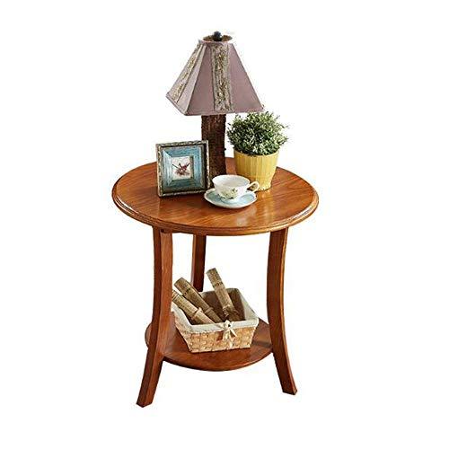BinLZ-Table Möbel Platz Coffee Side End Tisch 100% Massivholz Runde Telefontisch für Wohnzimmer 23,6