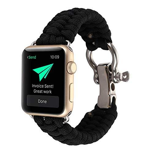 Ksruee Band für Apple Watch Series 4 mit 40 / 44mm Militär Standard Herren Klassische Wandern Durable Leichte Breathable Frauen Ersatz Gewebte Nylon Loop Armband Watchstrap für Camping Wandern