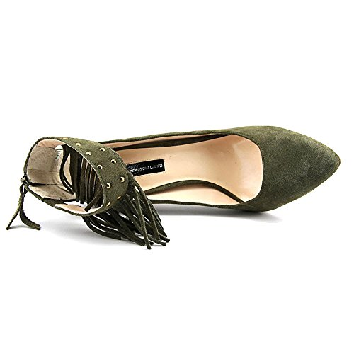 INC International Concepts Britanii Daim Talons Deep Olive