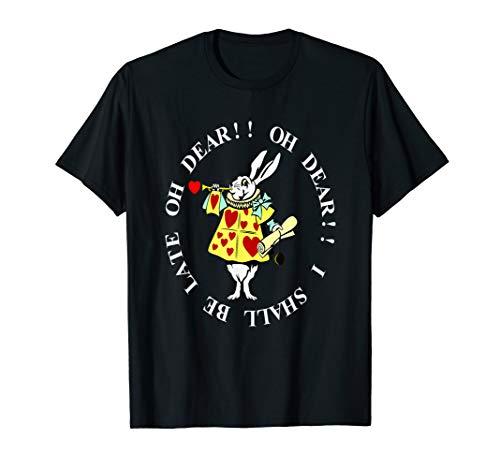 White Rabbit Men Women Gift T-Shirt ()