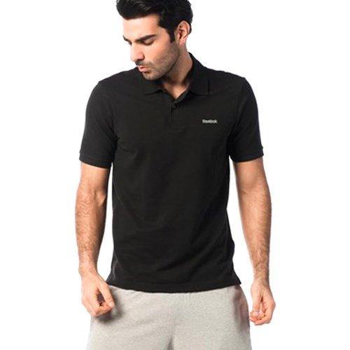 Reebok - Maglietta sportiva - Maniche corte  -  uomo Nero  nero
