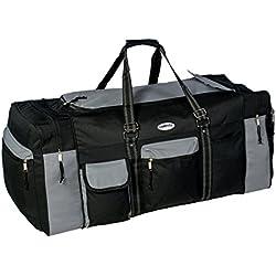 Campito Reisetasche, 80cm lang, 130 Liter, schwarz-grau