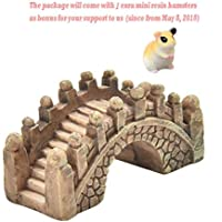 BESTIM INCUK Miniature Fairy Garden Bridge Ornament DIY Dollhouse Garden Decor Home Decoration