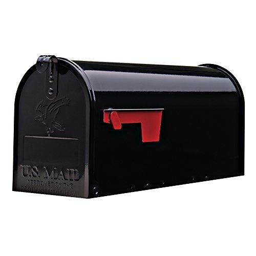 Amerikanischer Briefkasten in Schwarz