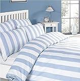Louisiana Bedding Cubre Edredón diseño Rayas Verticales Azul y...