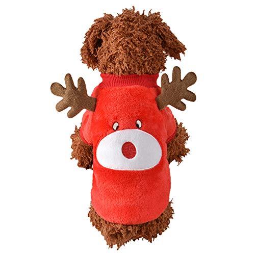 Malloom Weihnachts Hund T-Shirt welpen Kleidungs Welpen Weiches Mode Haustier Sweatshirt Weihnachten und Party Hoodie Hund T-Shirt Pullover Winter warme Warme Jacke Mode Haustier