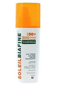 SoleilBiafine Lait Spray Solaire FPS 50+ Peaux Sensibles 200 ml