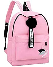 Posshusa Women's Polyester Stylish School Backpack (Pink)