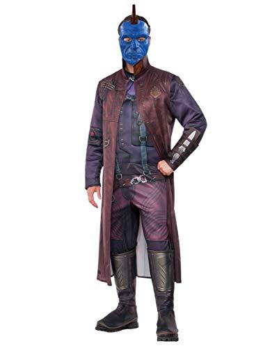 Kostüm Yondu - Horror-Shop Yondu Kostüm Deluxe mit Maske als original Guardians of The Galaxy Overall mit Stiefelstulpen Standard