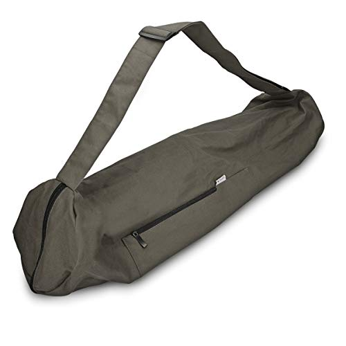 Navaris Yogatasche für Yogamatte aus Baumwolle - Tasche für Yoga Matte mit Reißverschluss Tragegurt - Große Hülle 72 x 29cm - div. Farben
