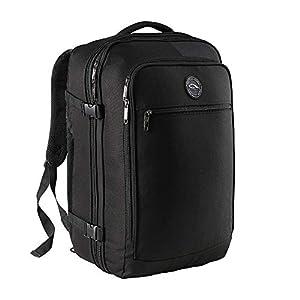CX Luggage – Equipaje de Cabina Expandible de 55 x 40 x 20 cm a 55 x 40 x 25 cm – ¡Bolsa de Mano Mayoría de Las Aerolíneas Principales! (Negro)