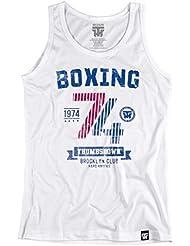 Boxing 1974 Thumbsdown Tank Top. Vest. Brooklyn Club Hard Knocks. Thumbsdown Last Fight. Gladiator Bloodline. Martial Arts. Fightwear. Training. Casual. Gym. MMA T-shirt(taille XXLarge)
