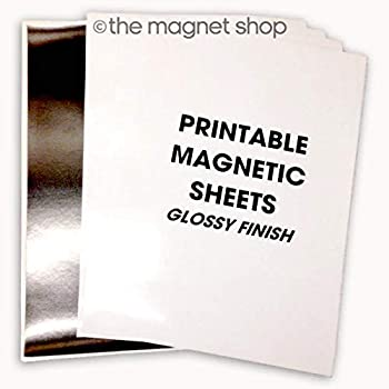 graphic relating to Printable Magnetic Paper referred to as 10 A4 Sheets Magnetic Picture Paper Shiny - Ink Jet Printers Printable Magnets