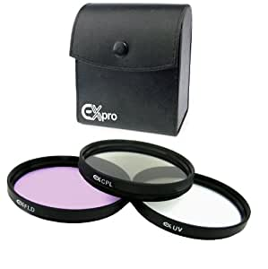 Ex-Pro 52mm Professional Multi Coated Glass Lens Filter Kit with Leather Case
