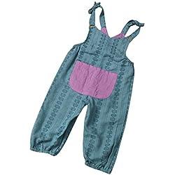 Vestidos Bebé,Switchali Recién nacidoInfantil Bebé Nina Chicas Correa Mameluco moda Romper linda verano sin mangas Mono ninas Pantalones harem Ropa (90 (12~18meses))