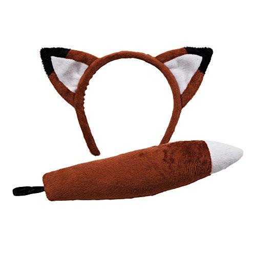 Tierohren & Tail Set, Zubehör für Kostüme Fox (Fox Tail Kostüm Zubehör)