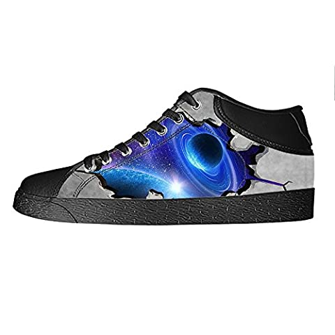 Custom Plate Universe Women's Canvas Shoes Lace-up High-top Footwear Sneakers