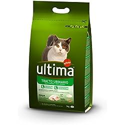 Ultima Pienso para Gatos para prevenir Problemas del Tracto Urinario con Pollo - Paquete de 5 x 3000 gr - Total: 15000 gr