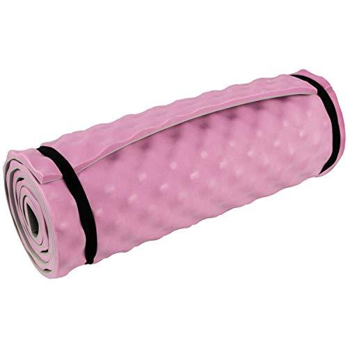 HIGHLANDER Komfort-Isomatte Leichte Isomatte zum Aufrollen Ideal für Camping, Festivals oder sogar Yoga-Workouts (Rosa)