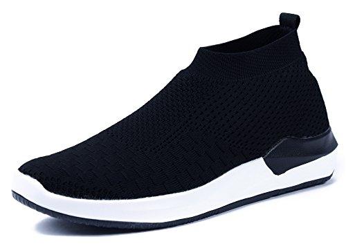 Scarpe Da Uomo Scarpe Da Ginnastica Uomo Slip On Comode Scarpe Sportive Per Il Tempo Libero Scarpe Da Corsa Nere (eun05)
