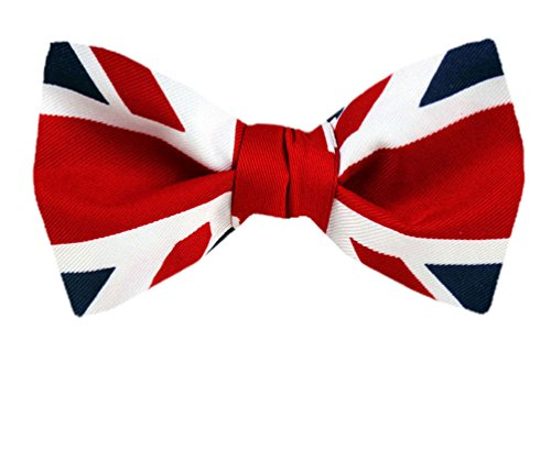 PBT-FLAG-313 - Blau Rot White - UK Flag Union Jack Pre-Tied Fliege