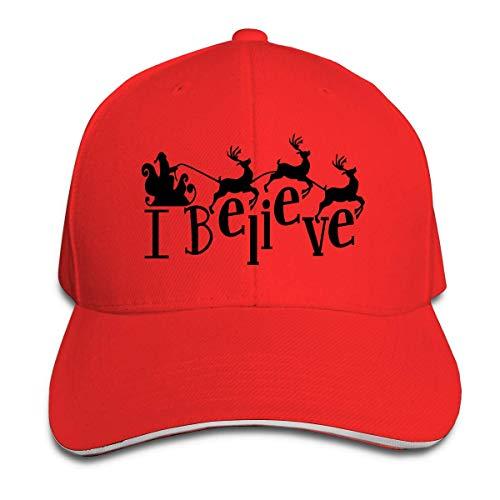 dfjdfjjgfhd Classic Unisex I Believe Santa's Sleigh & Reindeer Christmas Baseball Kappe Baseball Kappe