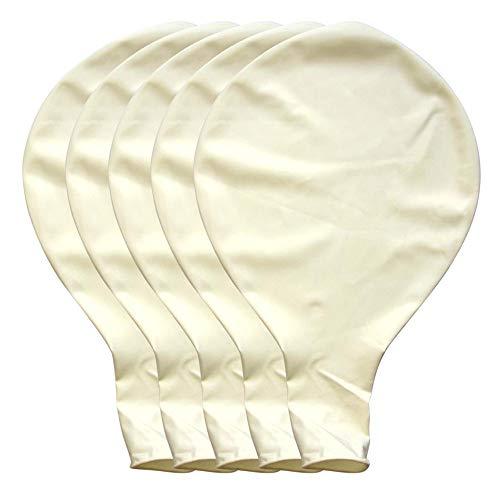 Fasclot Großer ovaler Latex-Luftballon für Hochzeit, Party, 90 cm, Marineblau, 5 Stück - weiß - Large