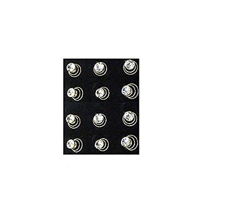 Mytoptrendz® Gold Tone Rhinestone Single Crystal Wedding Bridal Twisters Coil Spiral Hair Pins (Pack of 12)