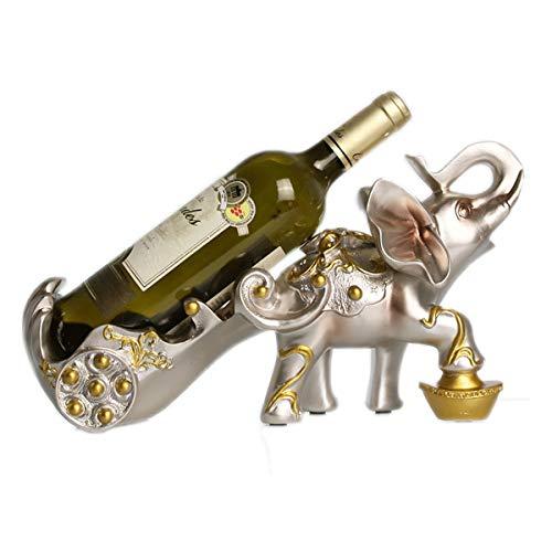 Kehuitong Soporte para Botellas de Vino, Decoraciones de Resina, Creativas artesanías de...