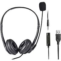 Molare Auriculares con Cable USB Mute Auriculares cómodos con micrófono para computadora Teléfono móvil