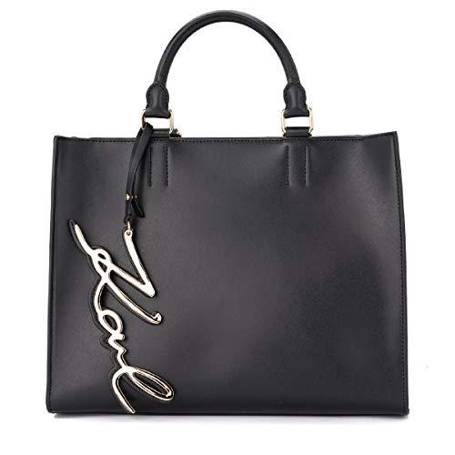 Karl Lagerfeld Sac à main Modèle Signature en cuir noir