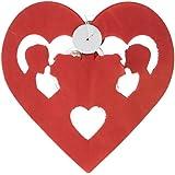 Hochzeit Papier Wimpelkette 6Meter–Herz