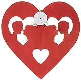 Folat Hochzeit Papier Wimpelkette 6Meter–Herz