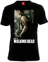 T-shirt Walking Dead Daryl Dixon Hunter chasseur pour homme coton noir