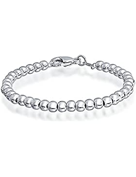 Bling Jewelry Kinder Kinder Armband Sterling Silber 4 mm Kugel Perle 6
