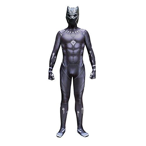 Für Erwachsene Kostüm Panther - Cosplay Kleidung Marvel Film Comic Black Panther Cosplay Kostüm Lycra Siamese Strumpfhosen 3D Digitaldruck Enge Weihnachten Halloween Kostüm Für Erwachsene/Kinder Tragen Mit Maske Adult-S