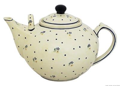 Bunzlauer keramik grande théière/cafetière avec 2 anses 2,9 l décor 111