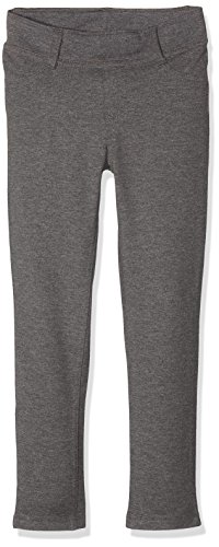 NAME IT Mädchen Hose NKFJAVI UNB SWE Legging NOOS, Grau (Dark Grey Melange), 116